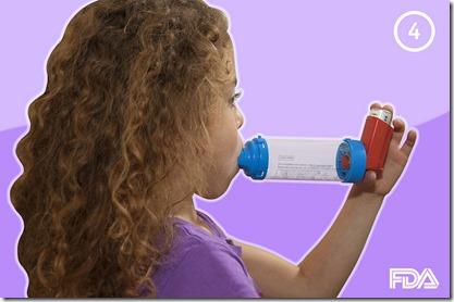 uso inhaladores con camara en el asma
